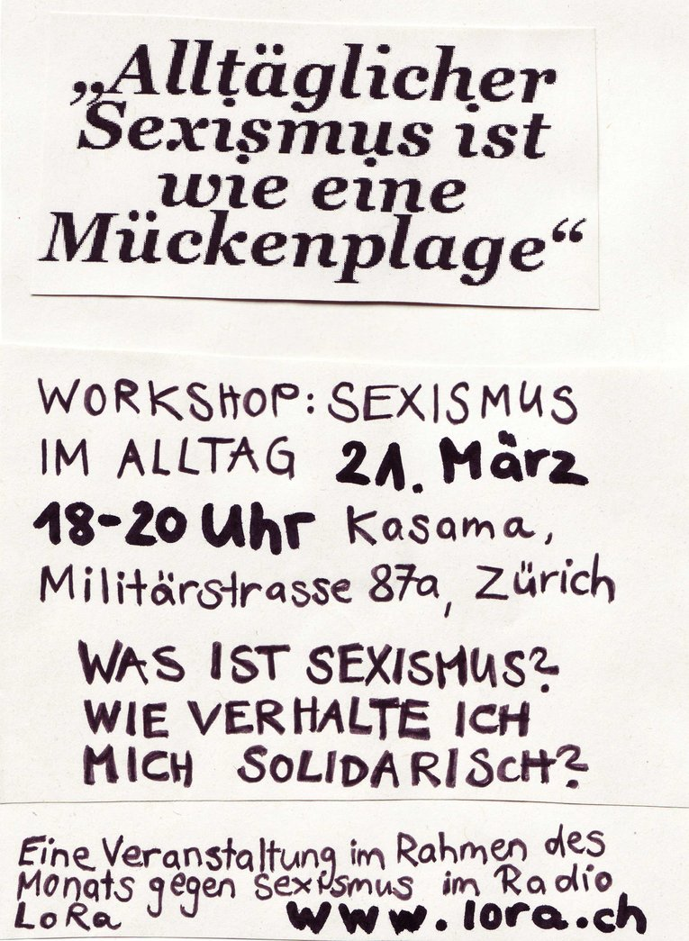 Workshop-Sexismus